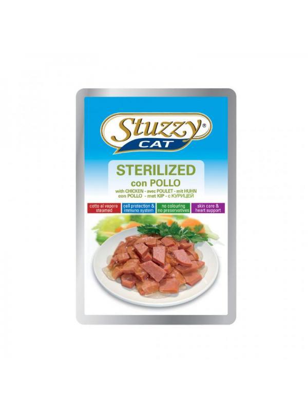 Stuzzy sterilized pollo busta cat 100g