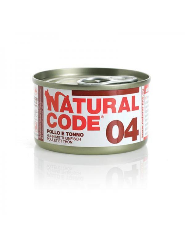 Natural Code Gatto Scatoletta 04 pollo e tonno 85g