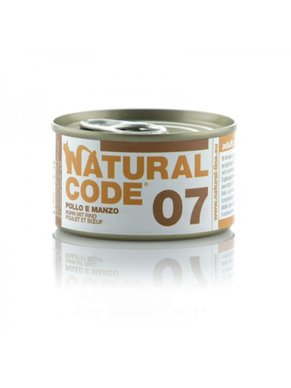Natural Code Gatto Scatoletta 07 pollo e manzo 85g