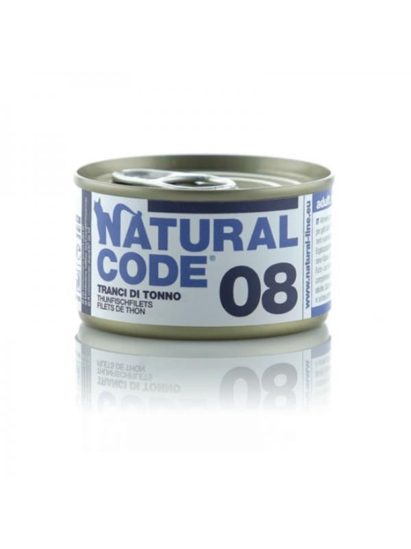 Natural Code Gatto Scatoletta 08 tranci di tonno 85g