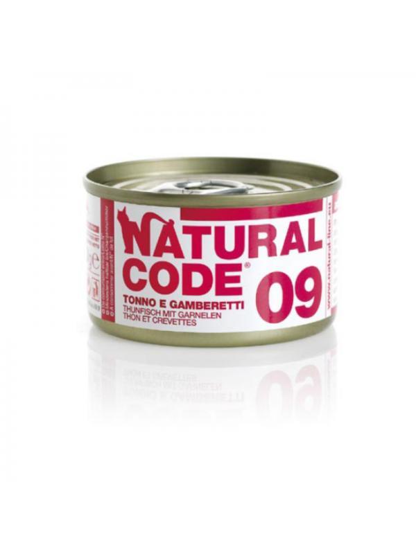 Natural Code Gatto Scatoletta 09 tonno e gamberetti 85g