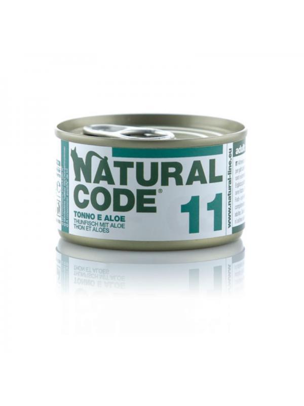Natural Code Gatto Scatoletta 11 tonno e aloe 85g
