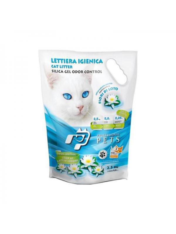 Professional pets Gatto lettiera ai fiori di loto 2.5Kg