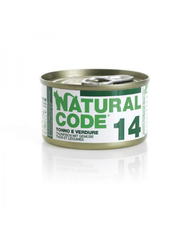 Natural Code Gatto Scatoletta 14 tonno e verdure 85g