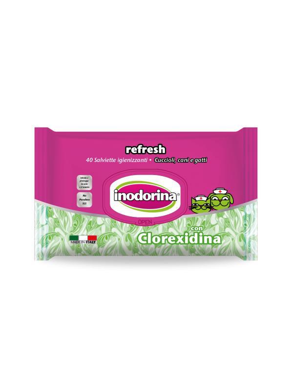 Inodorina salviette Refresh CLOREXIDINA 100 pz