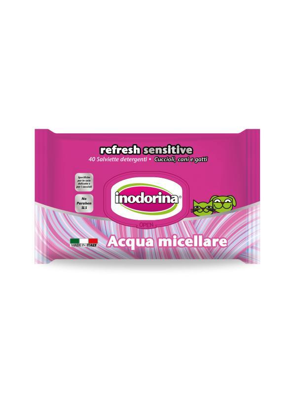 Inodorina salviette Refresh Sensitive ACQUA MICELLARE 40 pz