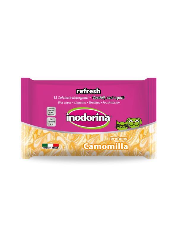 Inodorina salviette Refresh CAMOMILLA 15 pz-OCCHI E ORECCHIE