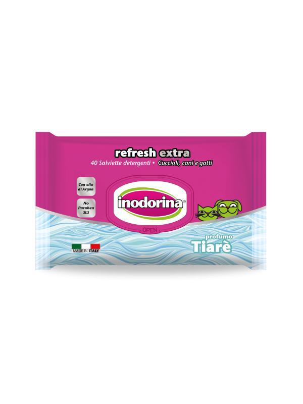 Inodorina salviette Refresh Extra TIARE' 40 pz