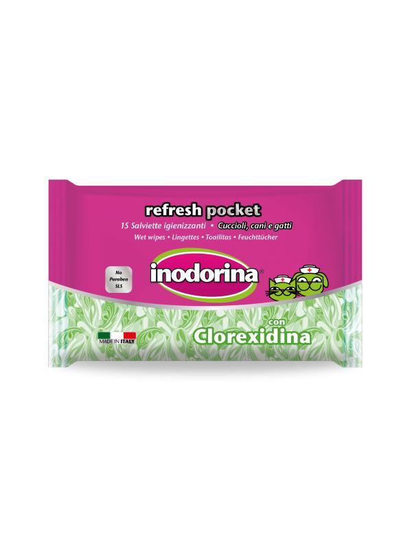 Inodorina salviette Refresh Pocket CLOREXIDINA 15 pz