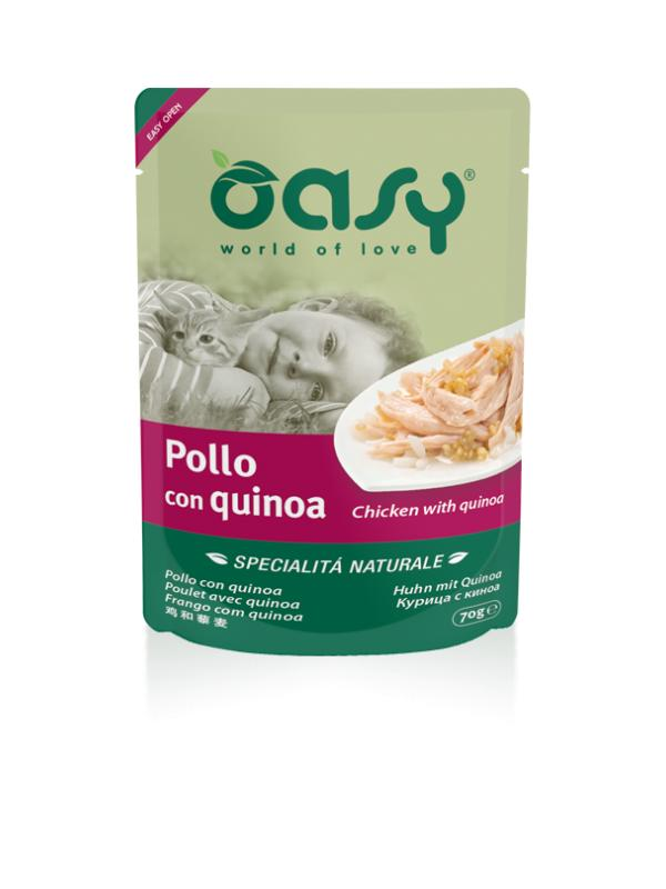Oasy cat busta con pollo e quinoa 70g