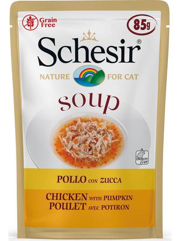 Schesir cat soup busta con pollo e zucca 85g