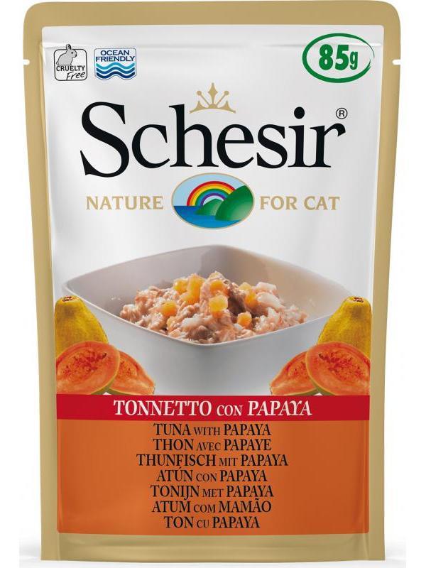 Schesir cat busta con tonnetto e papaya 85g