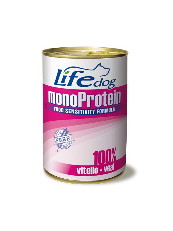 LifePetCare dog monoprotein scatoletta con vitello 400g