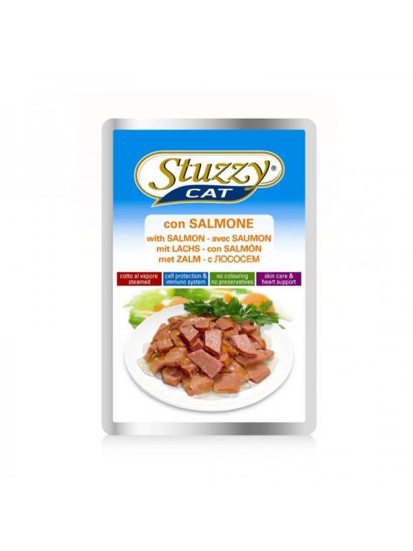 Stuzzy salmone busta cat 100g