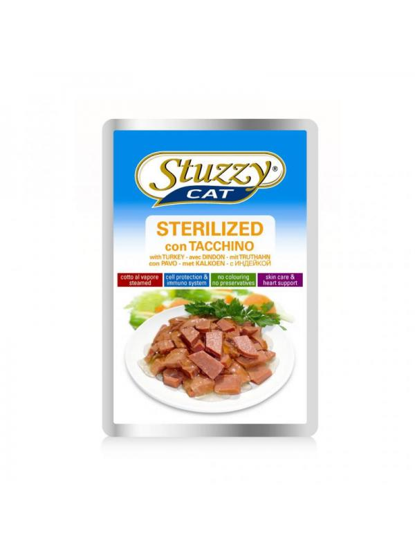 Stuzzy sterilized tacchino busta cat 100g