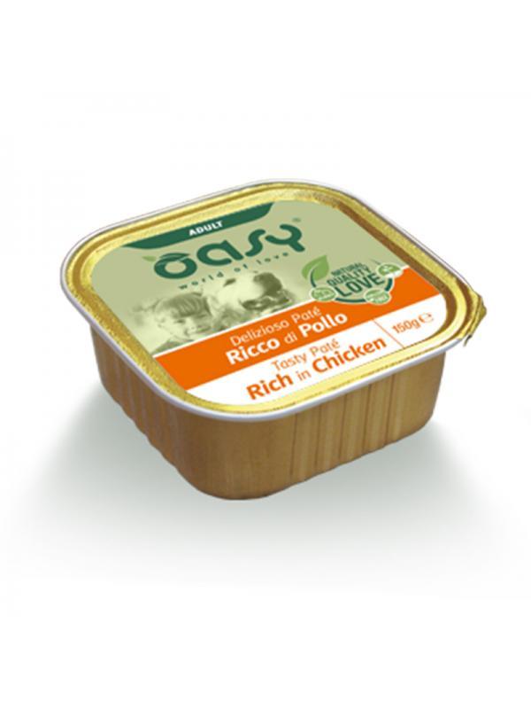 Oasy dog vaschetta patè con pollo 150g