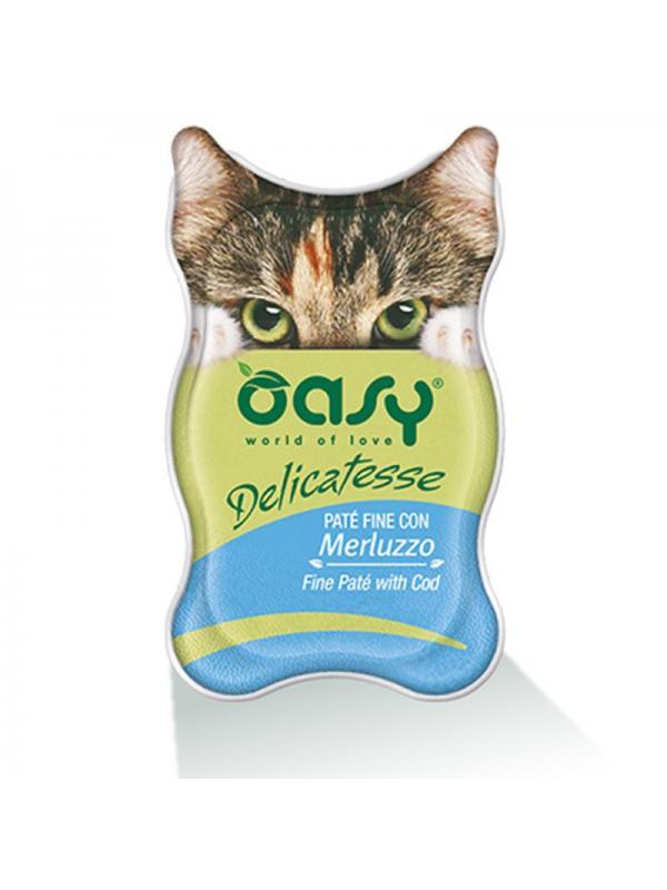 Oasy cat busta delicatesse con merluzzo 70g