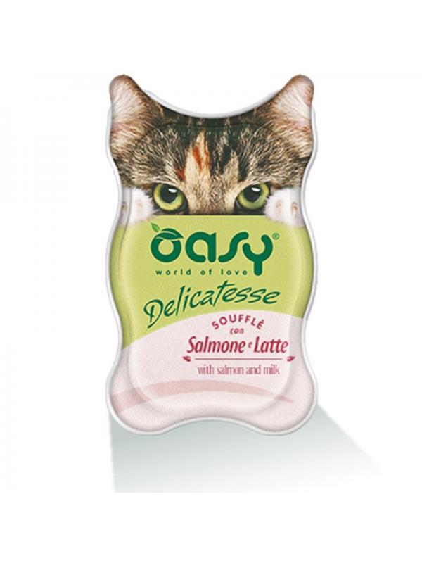 Oasy cat busta delicatesse con salmone e latte 70g