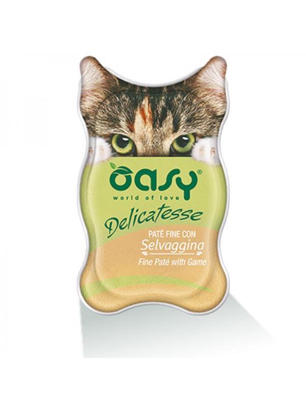 Oasy cat busta delicatesse con selvaggina 70g
