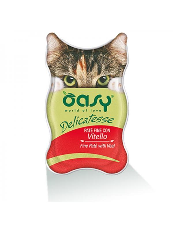 Oasy cat busta delicatesse con vitello 70g