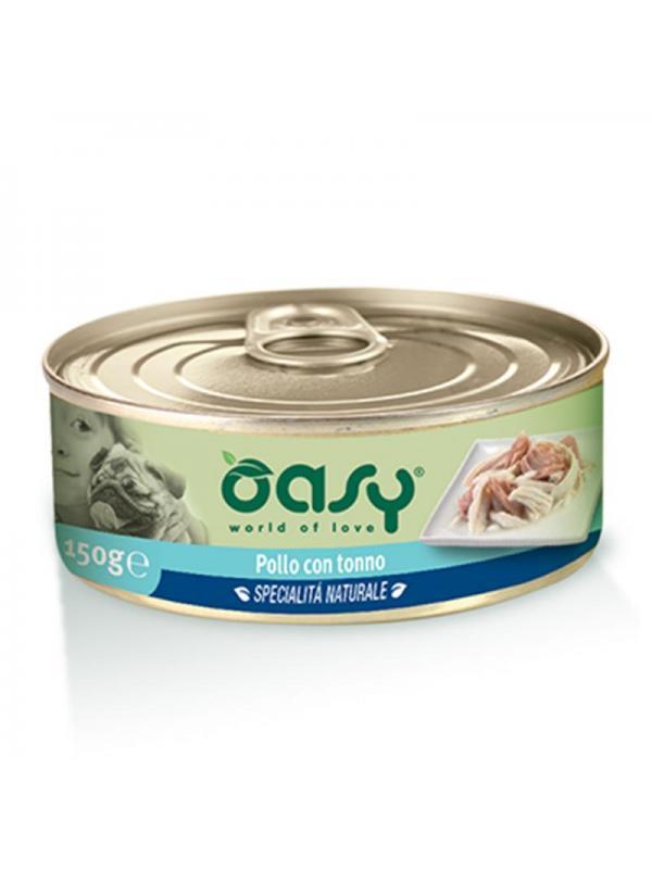 Oasy dog scatoletta con pollo e tonno 150g