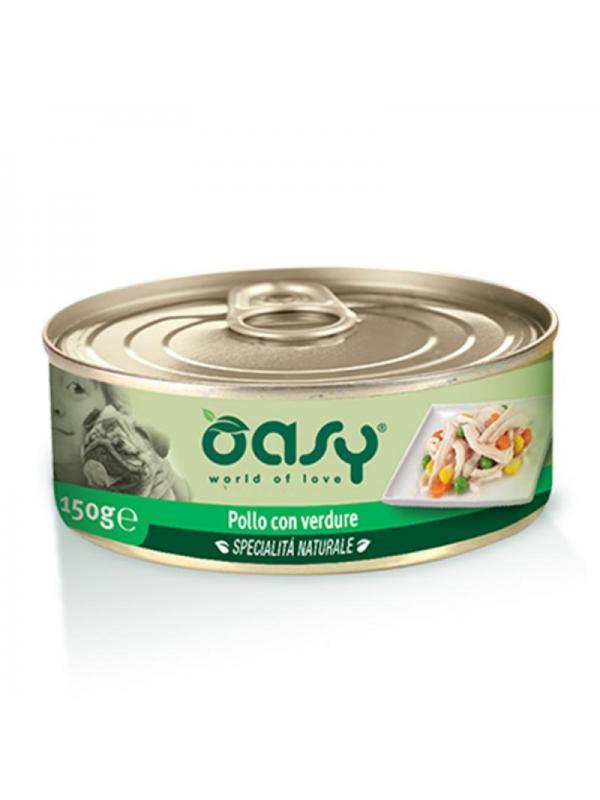 Oasy dog scatoletta con pollo e verdure 150g