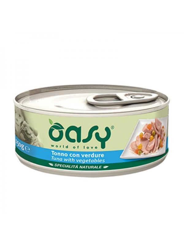 Oasy dog scatoletta con tonno e verdure 150g