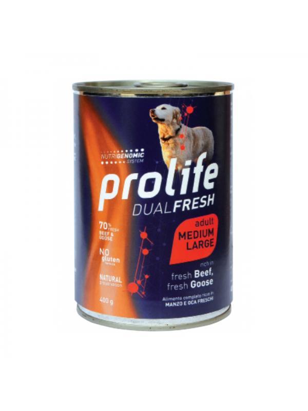 Prolife Dog Dual Fresh Adult Beef & Goose - Medium/Large