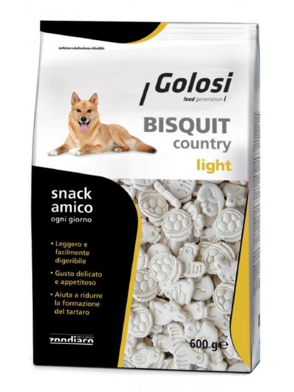 Golosi dog biscuit country light 600g
