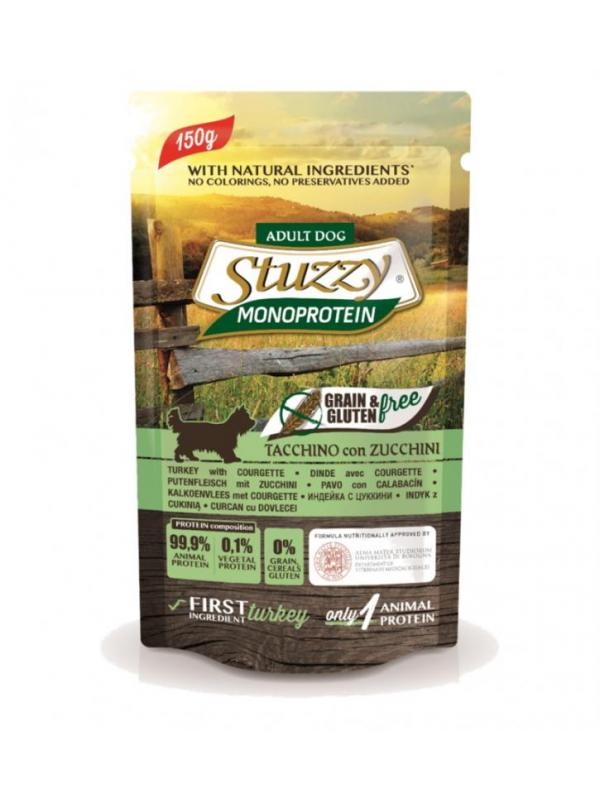 Stuzzy busta dog Grain Free con tacchino e zucchini 150g