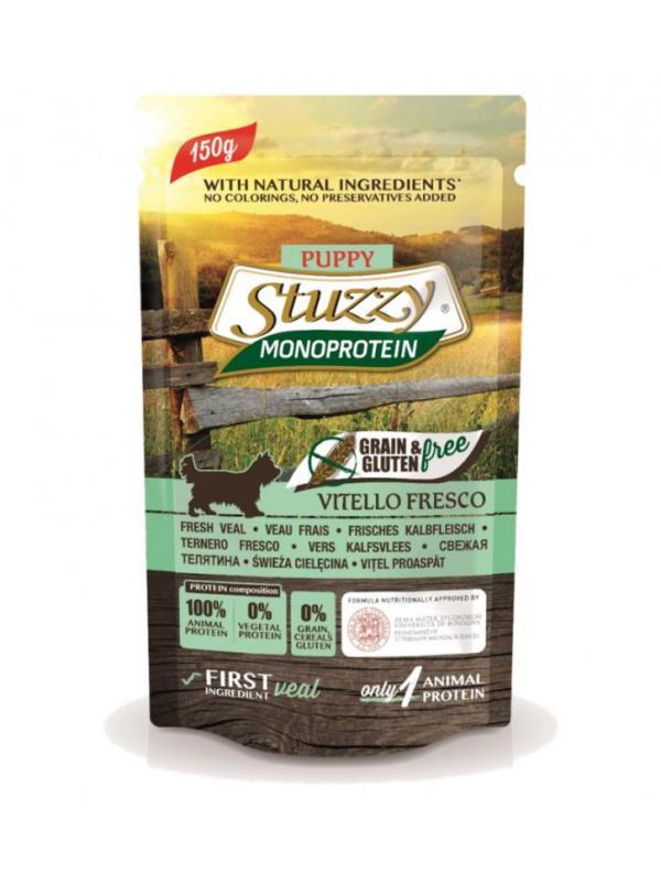 Stuzzy busta dog Grain Free con vitello e bietole 150g
