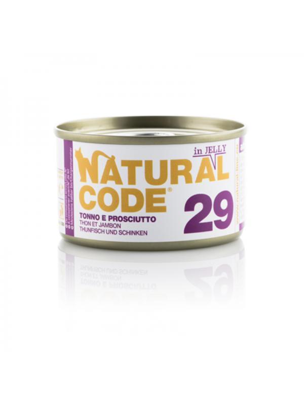 Natural Code Gatto Scatoletta 29 tonno e prosciutto 85g