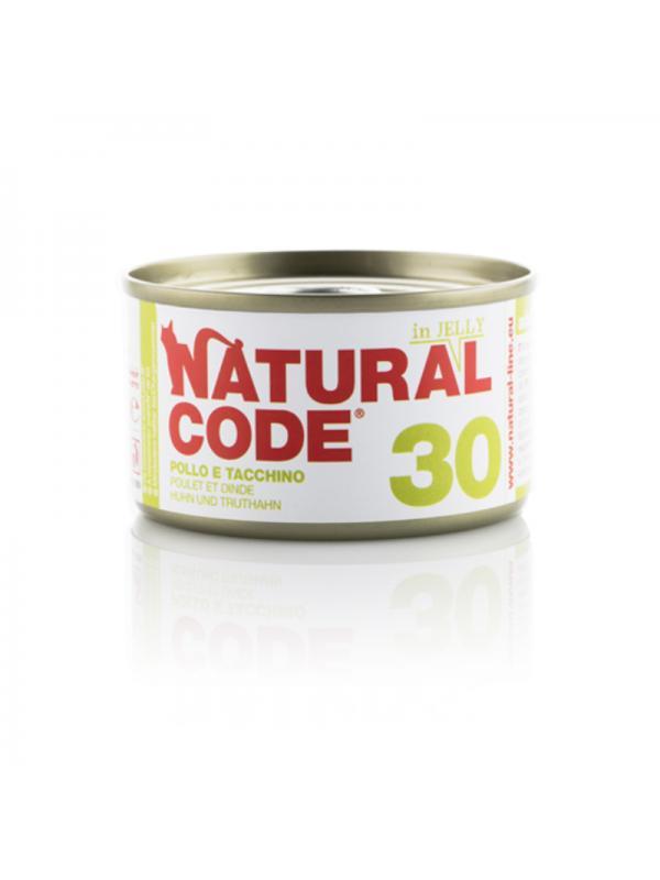 Natural Code Gatto Scatoletta 30 pollo e tacchino 85g