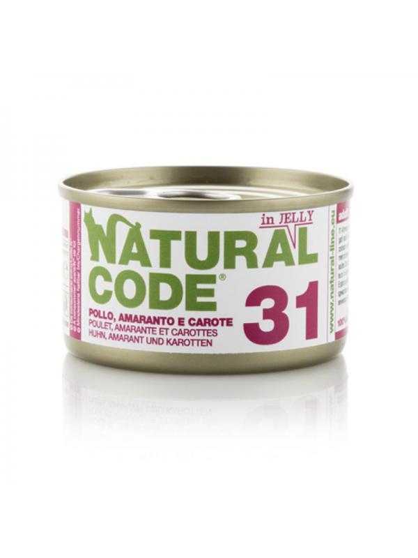 Natural Code Gatto Scatoletta 31 pollo amaranto e carote 85g
