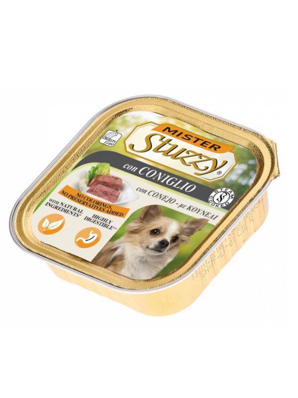 Stuzzy dog vaschetta con coniglio 150g