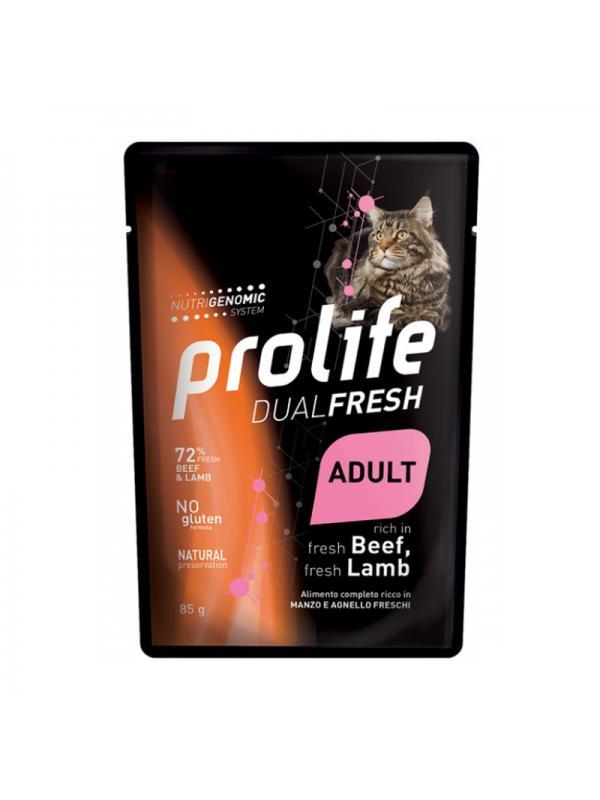 Prolife Cat Dual Fresh Adult Beef & Lamb 85g