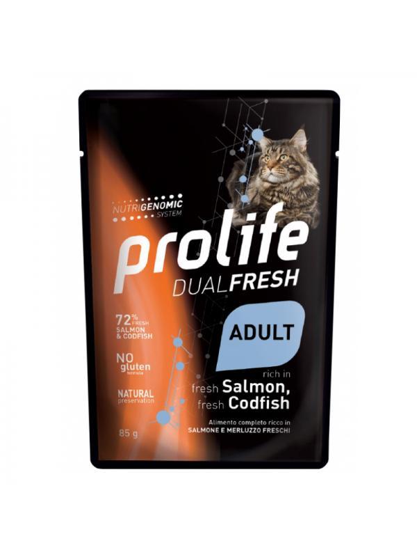 Prolife Cat Dual Fresh Adult Salmon & Codfish 85g