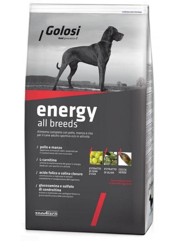 Golosi dog energy all breeds 3kg