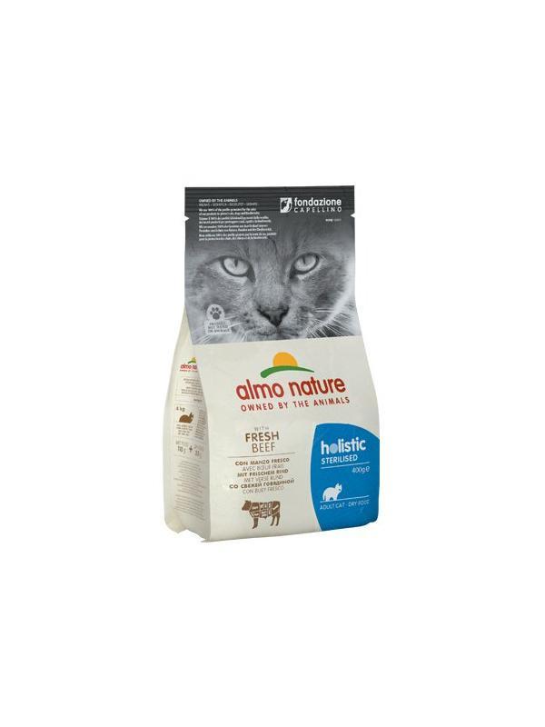 AlmoNature sterilized cat busta con manzo 400g