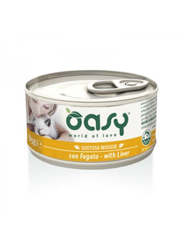 Oasy cat mousse con fegato 85g