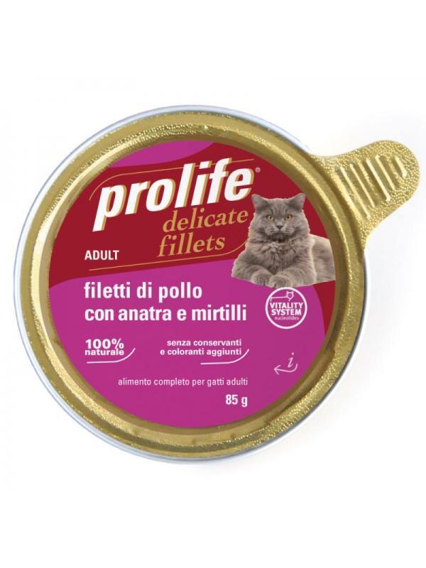 Prolife Adult - Filetti di Pollo con Anatra e Mirtilli 85g