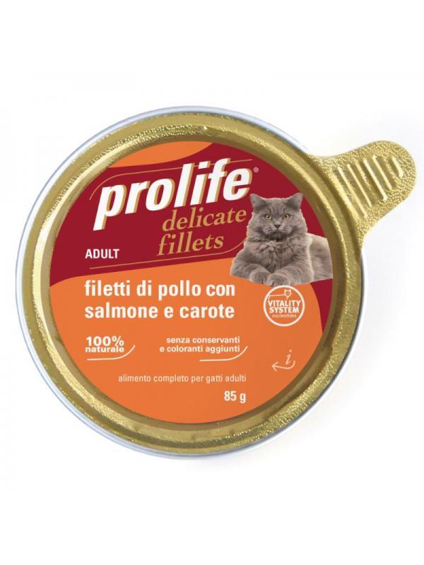 Prolife Adult - Filetti di Pollo con Salmone e Carote 85g