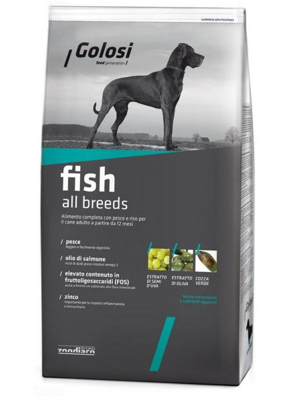Golosi fish & rice all breeds 12kg