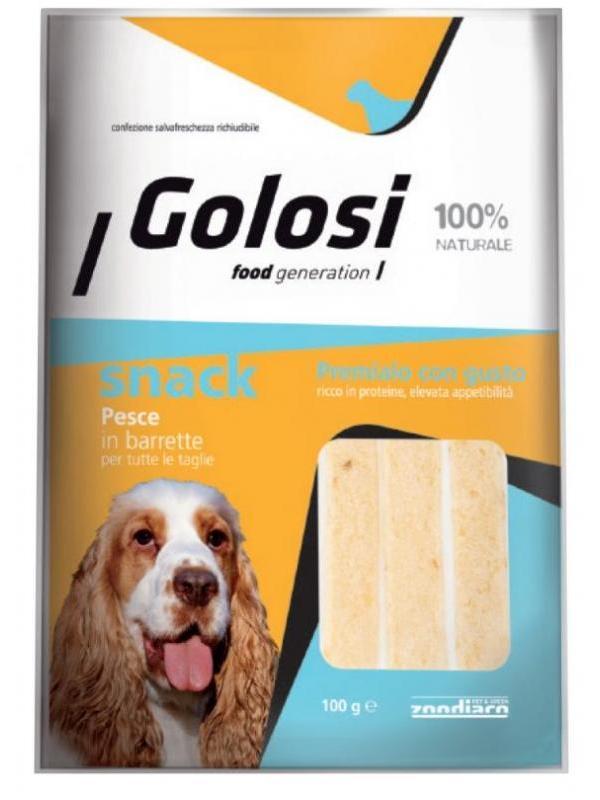 Golosi dog snack pesce in barrette 100g