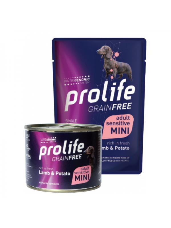 Prolife Dog Grain Free Adult Sensitive Lamb & Potato - Busta 100g