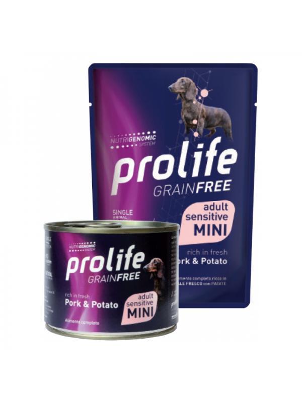 Prolife Dog Grain Free Adult Sensitive Pork & Potato - Busta 200g