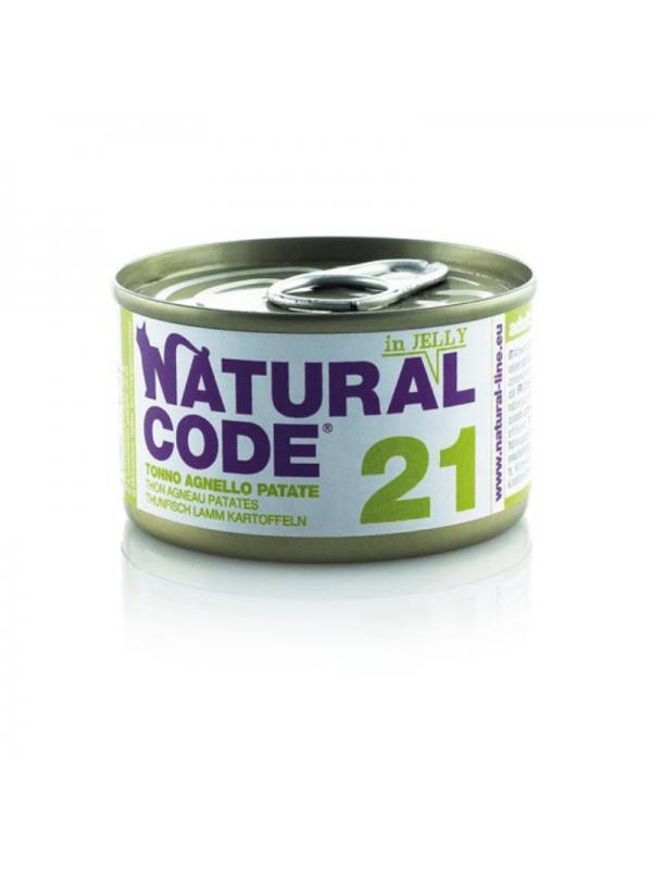 Natural Code Gatto Scatoletta 21 tonno, agnello, patate 85g