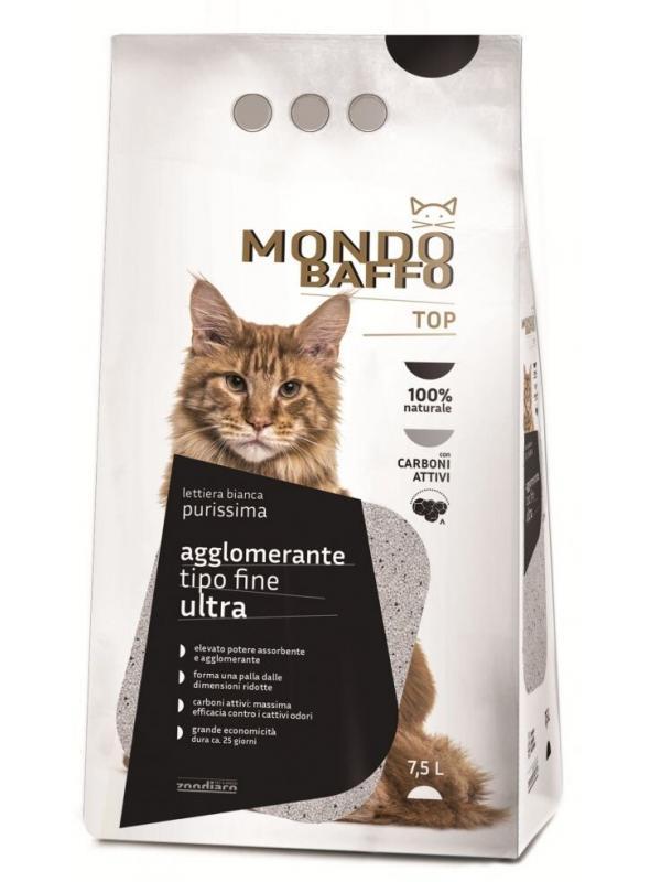 MONDO BAFFO LETTIERA AGGLOMERANTE FINISSIMA ULTRA 7,5 LT