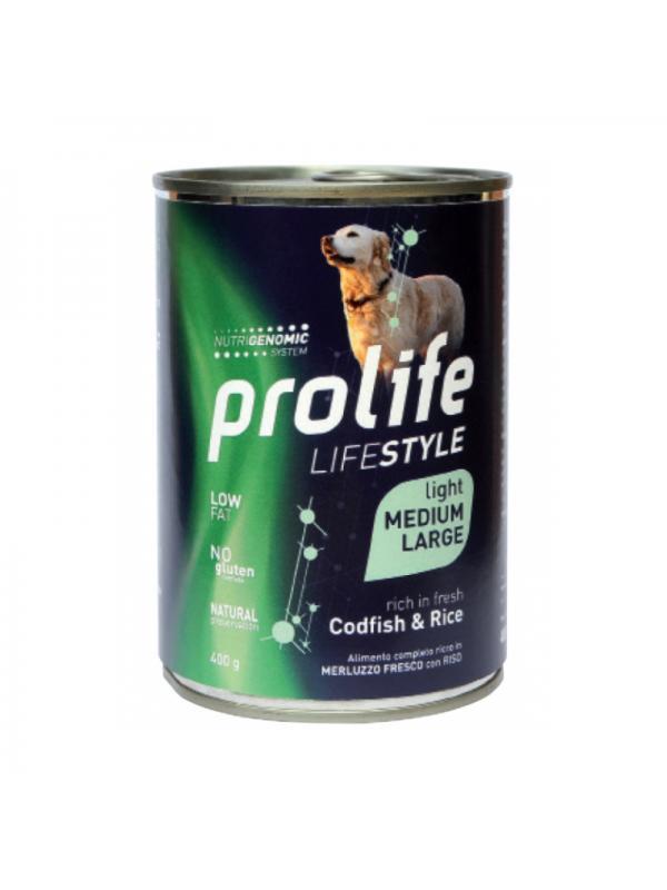 Prolife Dog Life Style Adult Light Codfish & Rice - Medium/Large