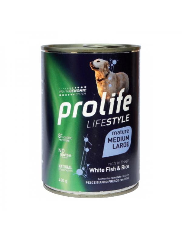 Prolife Dog Life Style Mature White Fish & Rice - Medium/Large